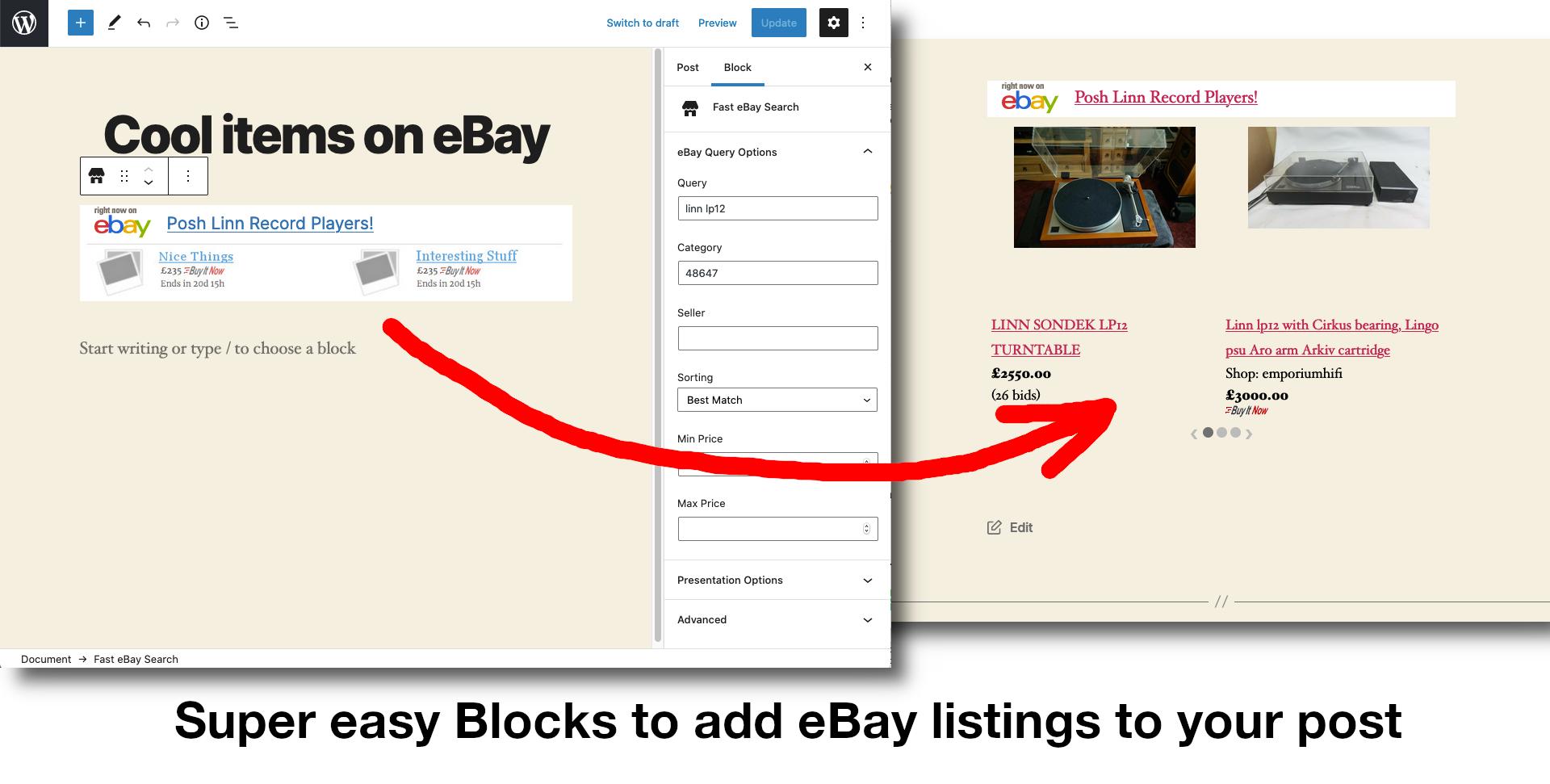 eBay Partner Network WordPress Integration